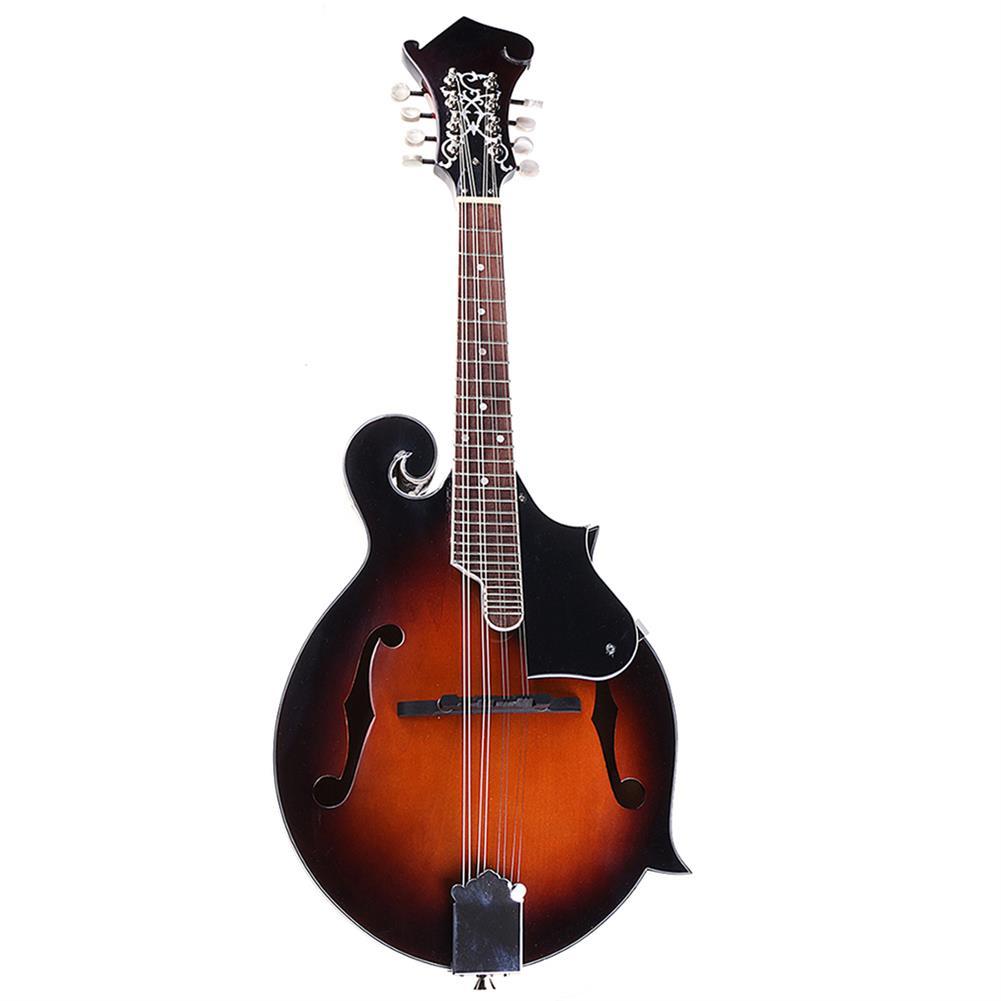 mandolin Classic Sunburst F Modle 24 Frets 8 String Paulownia Wood Mandolin with Case HOB1308721