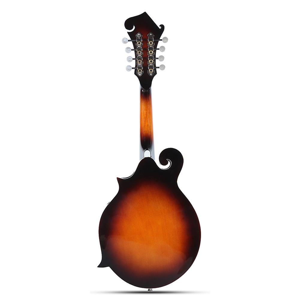 mandolin Classic Sunburst F Modle 24 Frets 8 String Paulownia Wood Mandolin with Case HOB1308721 1