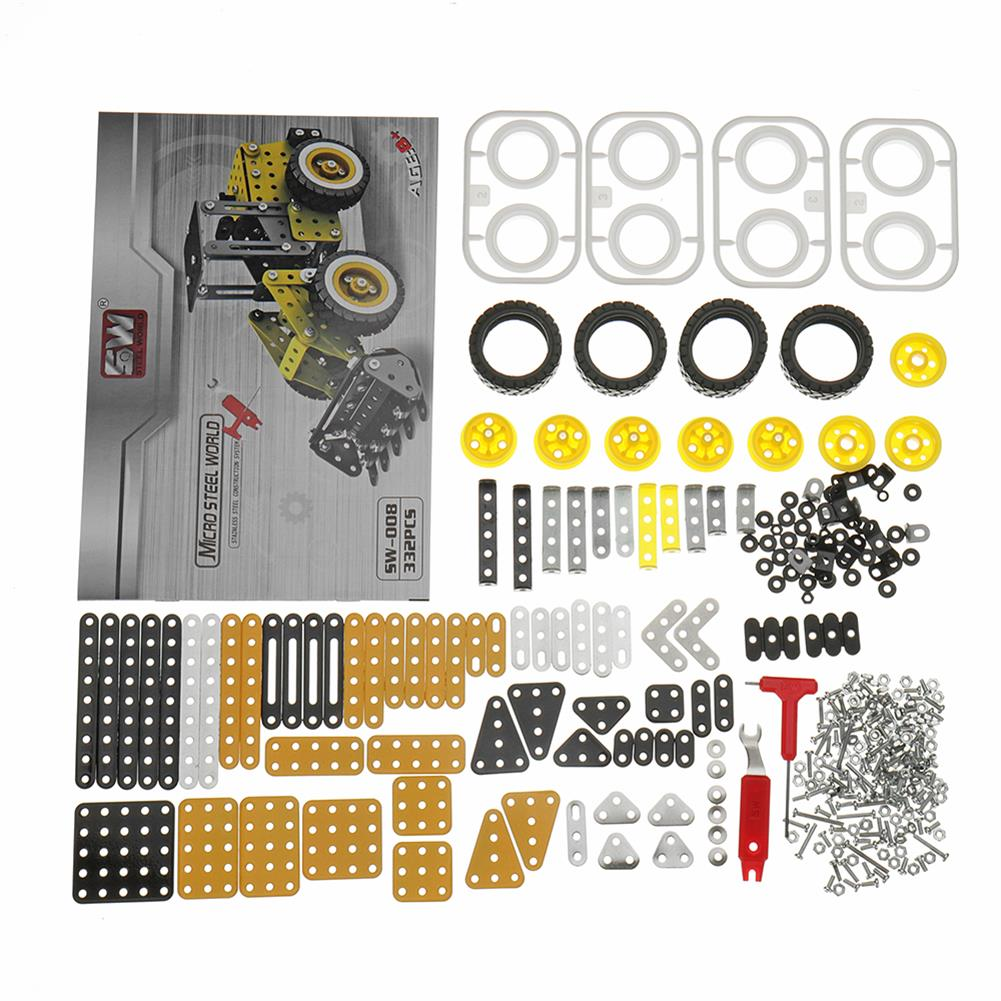 model-building MoFun 3D Metal Puzzle Model Building Stainless Steel Truck Lorry Loader 332PCS HOB1311361 3
