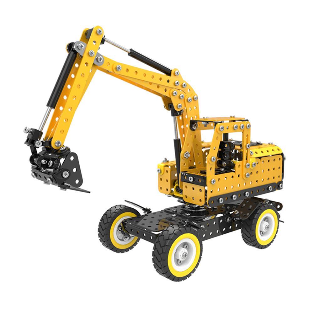 model-building MoFun Excavator Car DIY 3D Metal Puzzle Model Building Stainless Steel Kit 502PCS Toy Gift Decor HOB1311364