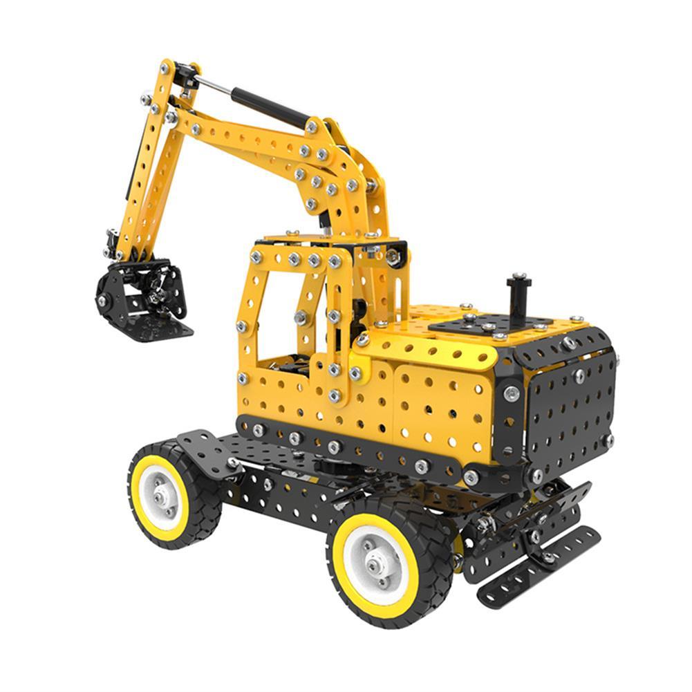 model-building MoFun Excavator Car DIY 3D Metal Puzzle Model Building Stainless Steel Kit 502PCS Toy Gift Decor HOB1311364 1