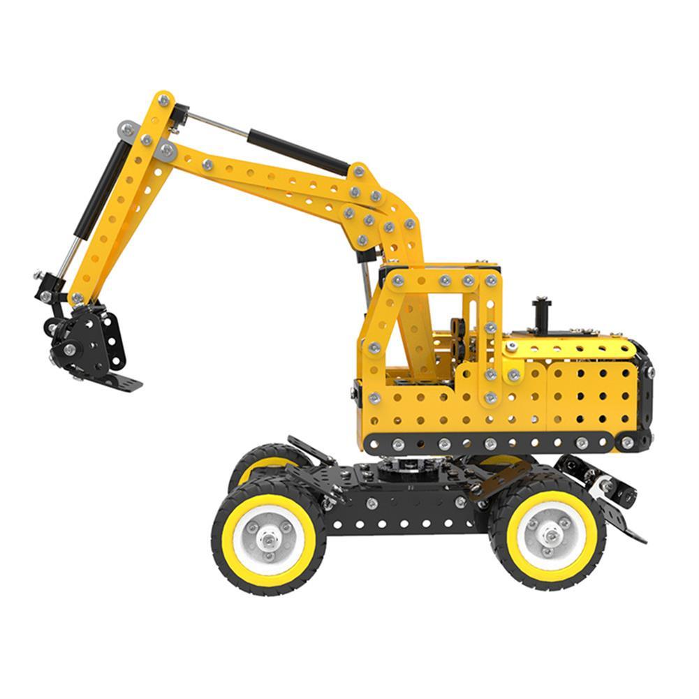 model-building MoFun Excavator Car DIY 3D Metal Puzzle Model Building Stainless Steel Kit 502PCS Toy Gift Decor HOB1311364 2