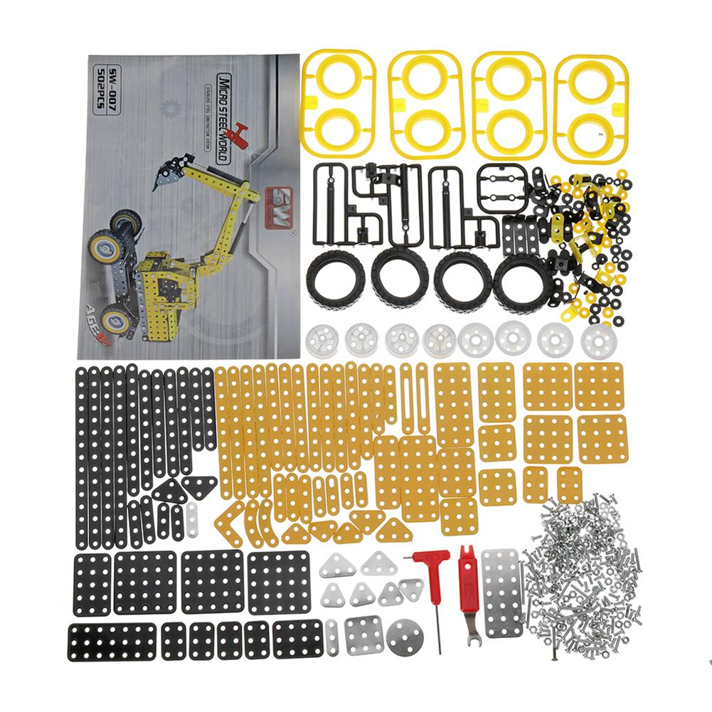 model-building MoFun Excavator Car DIY 3D Metal Puzzle Model Building Stainless Steel Kit 502PCS Toy Gift Decor HOB1311364 3