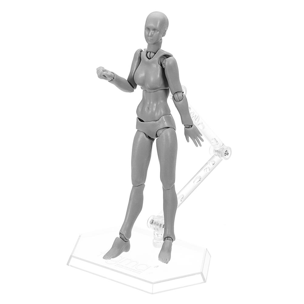dolls-action-figure Figma Archetype Action Figure Doll PVC M2.0 Body Female Grey Color Model Doll for Decoration HOB1311452 1