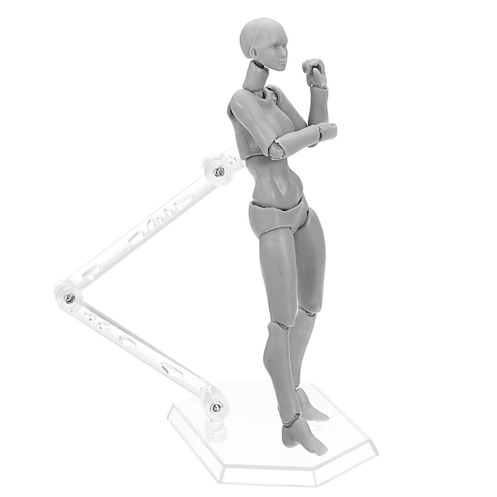 dolls-action-figure Figma Archetype Action Figure Doll PVC M2.0 Body Female Grey Color Model Doll for Decoration HOB1311452 2