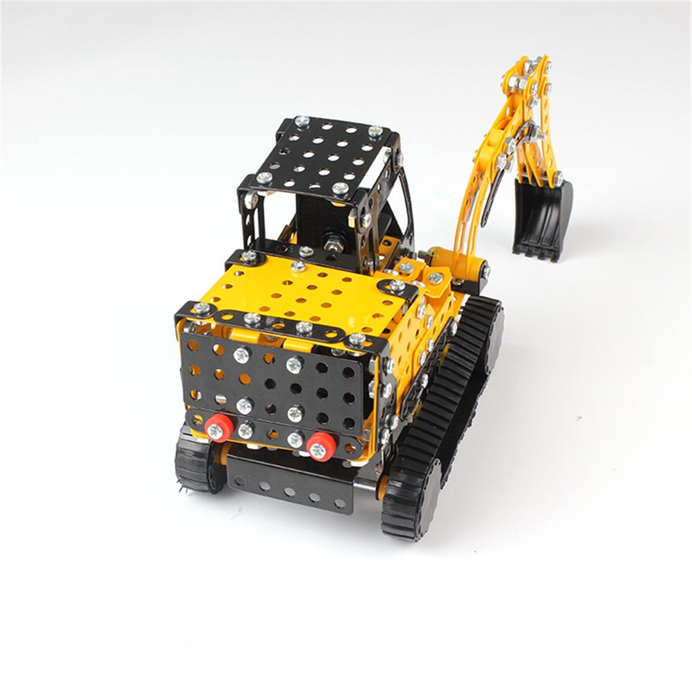 model-building MoFun 3D Metal Puzzle Construction Truck Stainless Steel Model Building Toy 351PCS HOB1313235 2