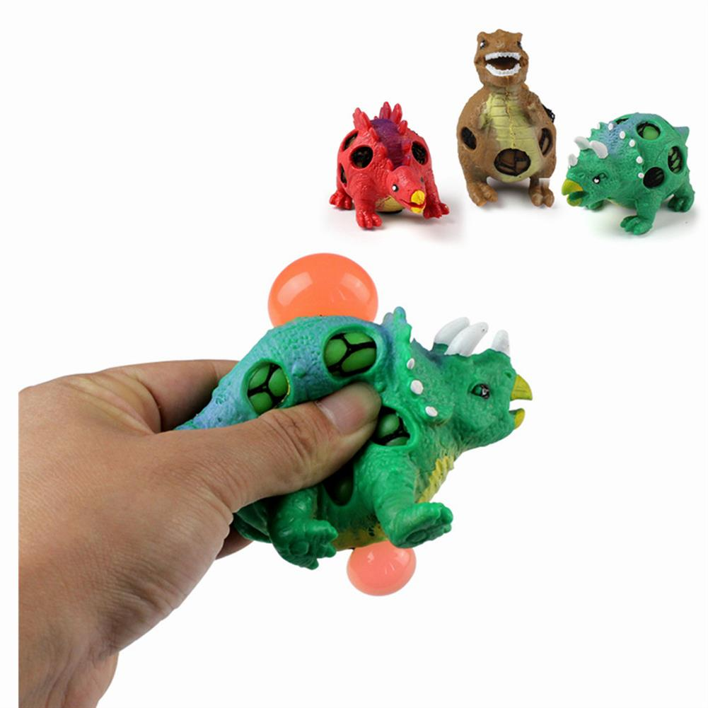 stress-relievers 1PC TPR Squishy Dinosaur Jurassic Dinosaurs Squeeze Toy Gift Collection Stress Reliever HOB1316106