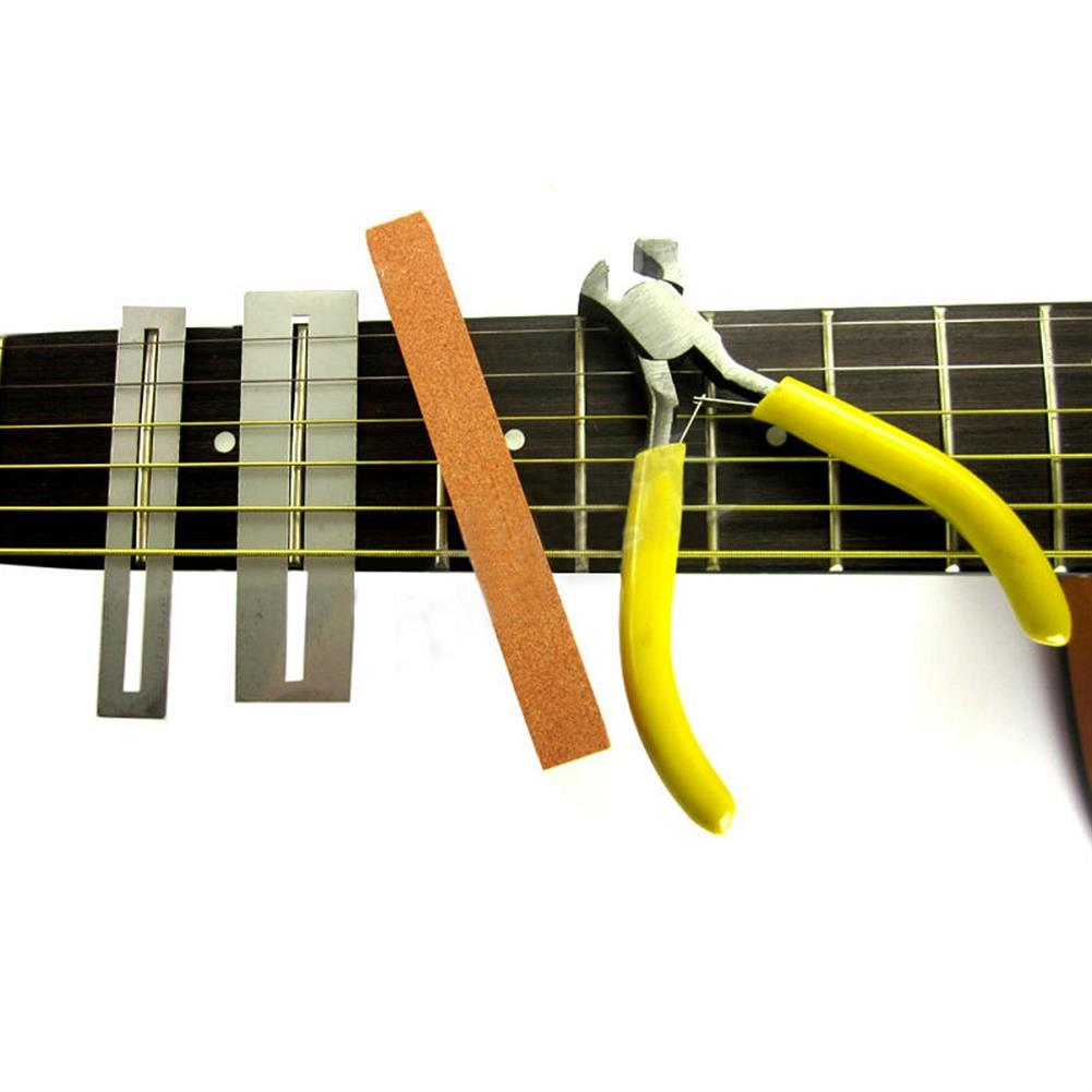 guitar-accessories Guitar Fret Puller Pliers File Fingerboard Guards Fretboard Fret Protector Shims Set HOB1319929 2