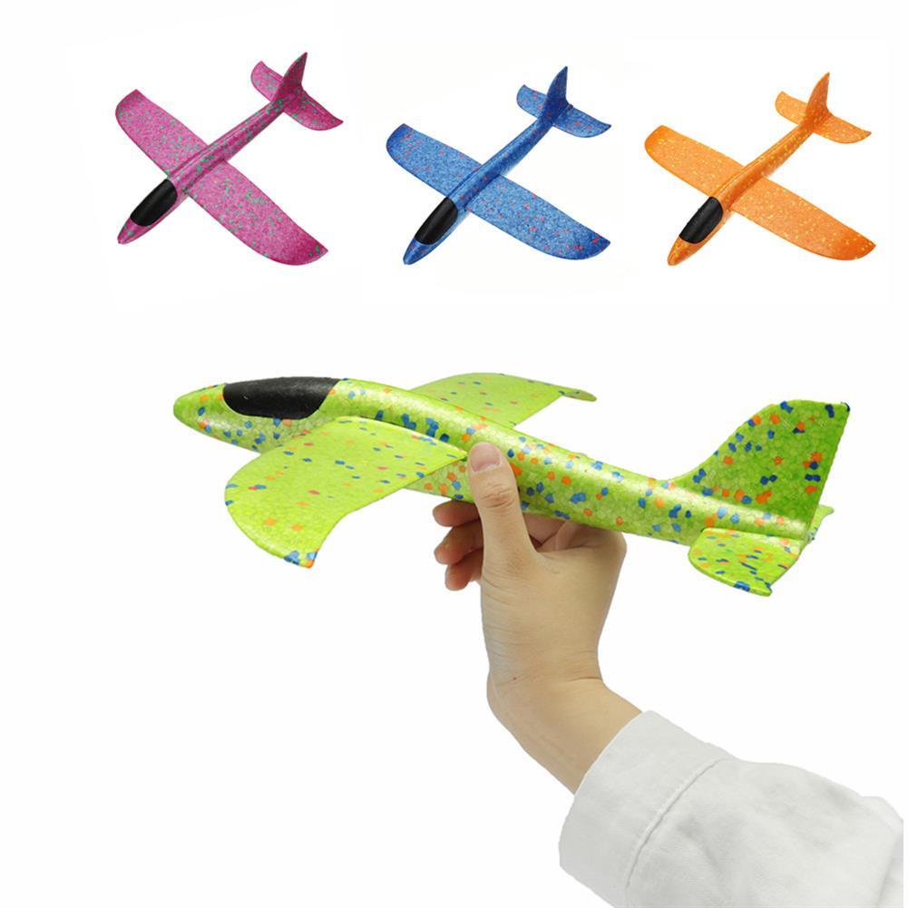 plane-parachute-toys 4PCS 35cm Big Size Hand Launch Throwing Aircraft Airplane Glider DIY inertial Foam EPP Plane Toy HOB1320925