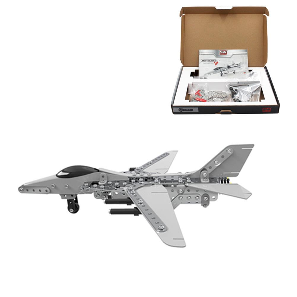 model-building MoFun 3D Metal Puzzle Model Building Stainless Steel Aircraft Fighter Plane 470PCS HOB1324689