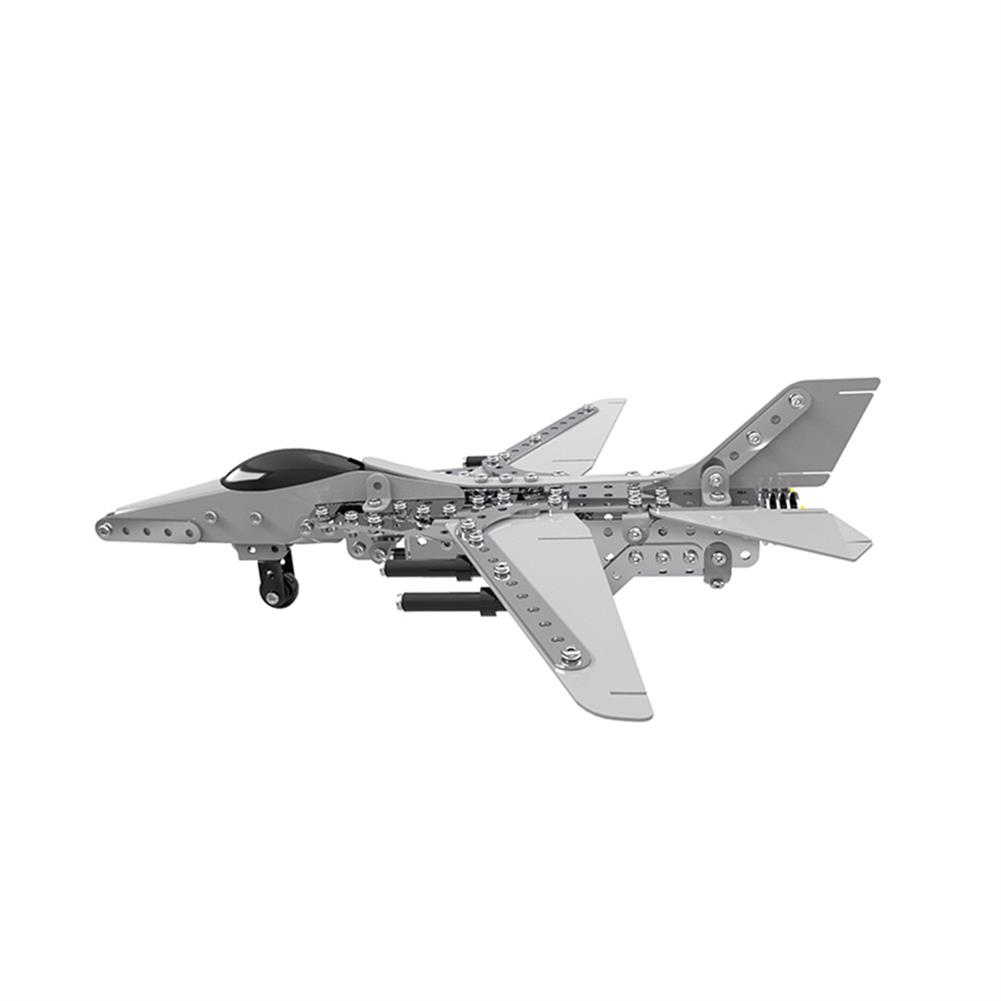 model-building MoFun 3D Metal Puzzle Model Building Stainless Steel Aircraft Fighter Plane 470PCS HOB1324689 1
