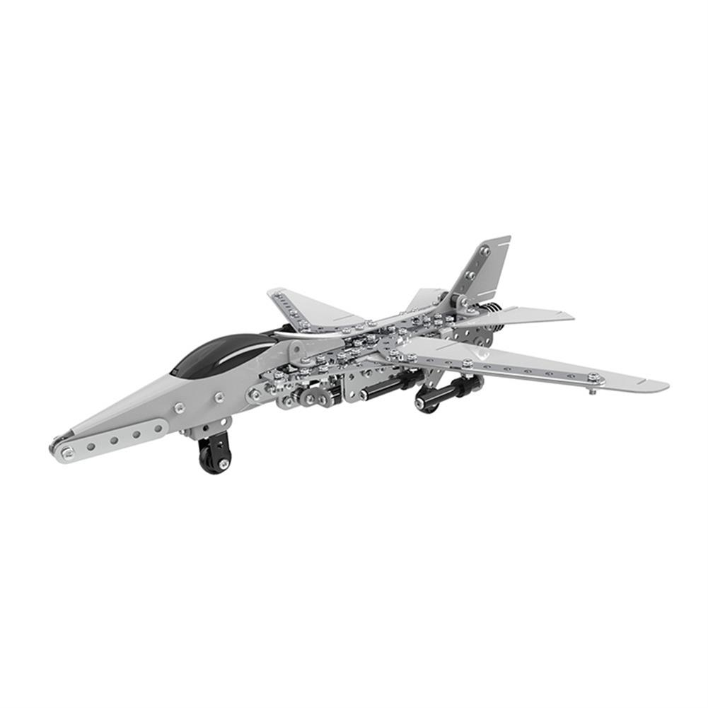 model-building MoFun 3D Metal Puzzle Model Building Stainless Steel Aircraft Fighter Plane 470PCS HOB1324689 2