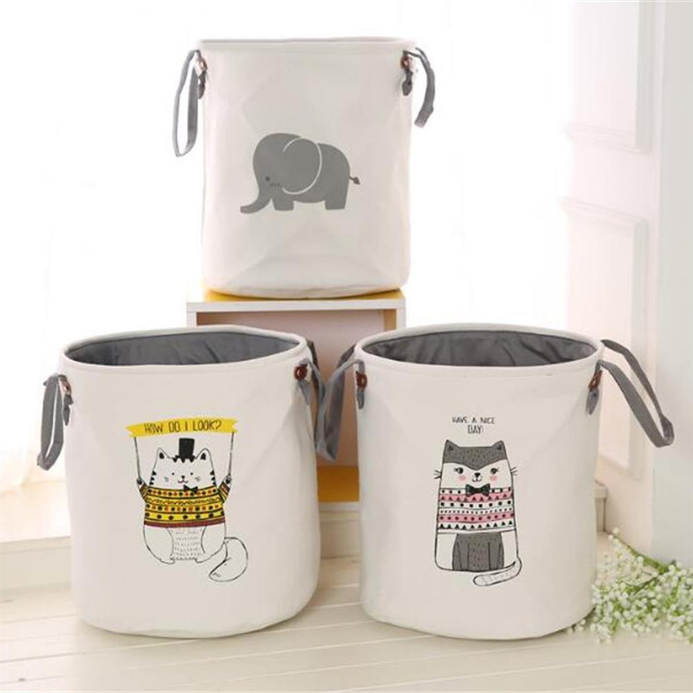 puzzle-game-toys Pattern Laundry Hamper Cotton Rope Woven Handbag Canvas Laundry Basket Storage Bag Baby Toys Bin HOB1327276