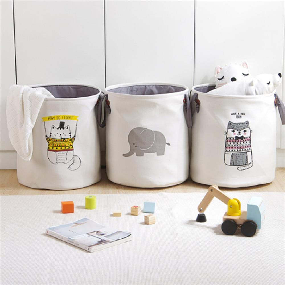 puzzle-game-toys Pattern Laundry Hamper Cotton Rope Woven Handbag Canvas Laundry Basket Storage Bag Baby Toys Bin HOB1327276 1