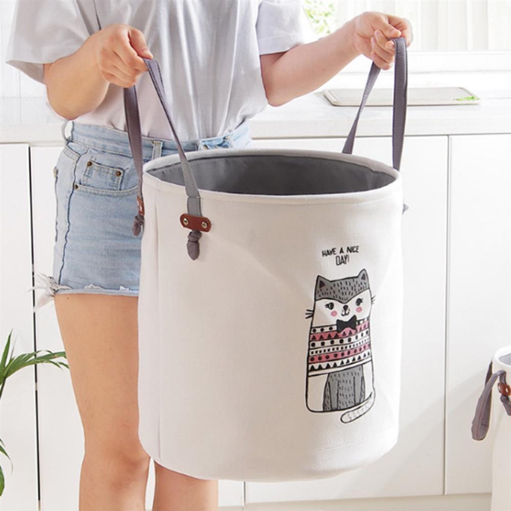 puzzle-game-toys Pattern Laundry Hamper Cotton Rope Woven Handbag Canvas Laundry Basket Storage Bag Baby Toys Bin HOB1327276 3