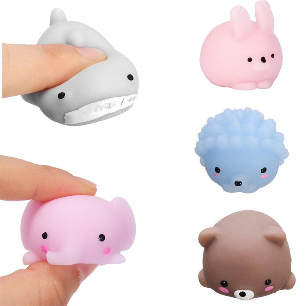squishy-toys 5PCS Mochi Animal Squishy Squeeze Cute Healing Toy 4cm Kawaii Collection Stress Relief Toy HOB1329544