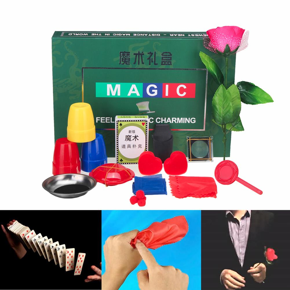 gags-practical-jokes 8 Kinds Trick Sets Magic Play with DVD Teaching Professional Magic Tricks Stage Close Up Magic Toys HOB1329701