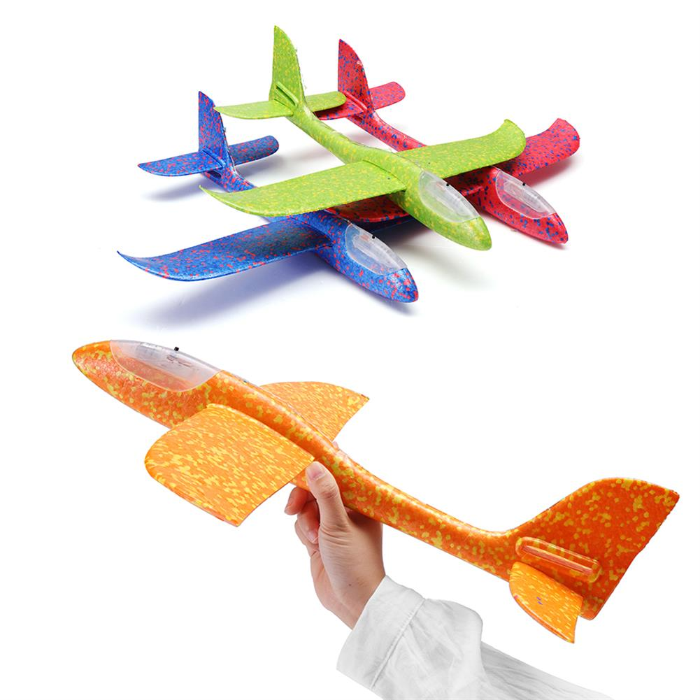 plane-parachute-toys 48cm 19'' Hand Launch Throwing Aircraft Airplane DIY inertial EPP Plane Toy with LED Light HOB1334592 1