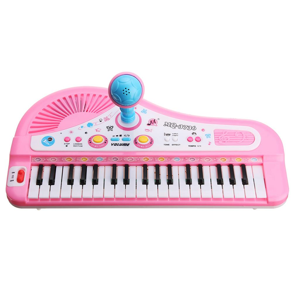 orff-instruments 37 Keyboard Mini Electronic Multifunctional Piano with Microphone Educational Toy Piano for Kids HOB1335185