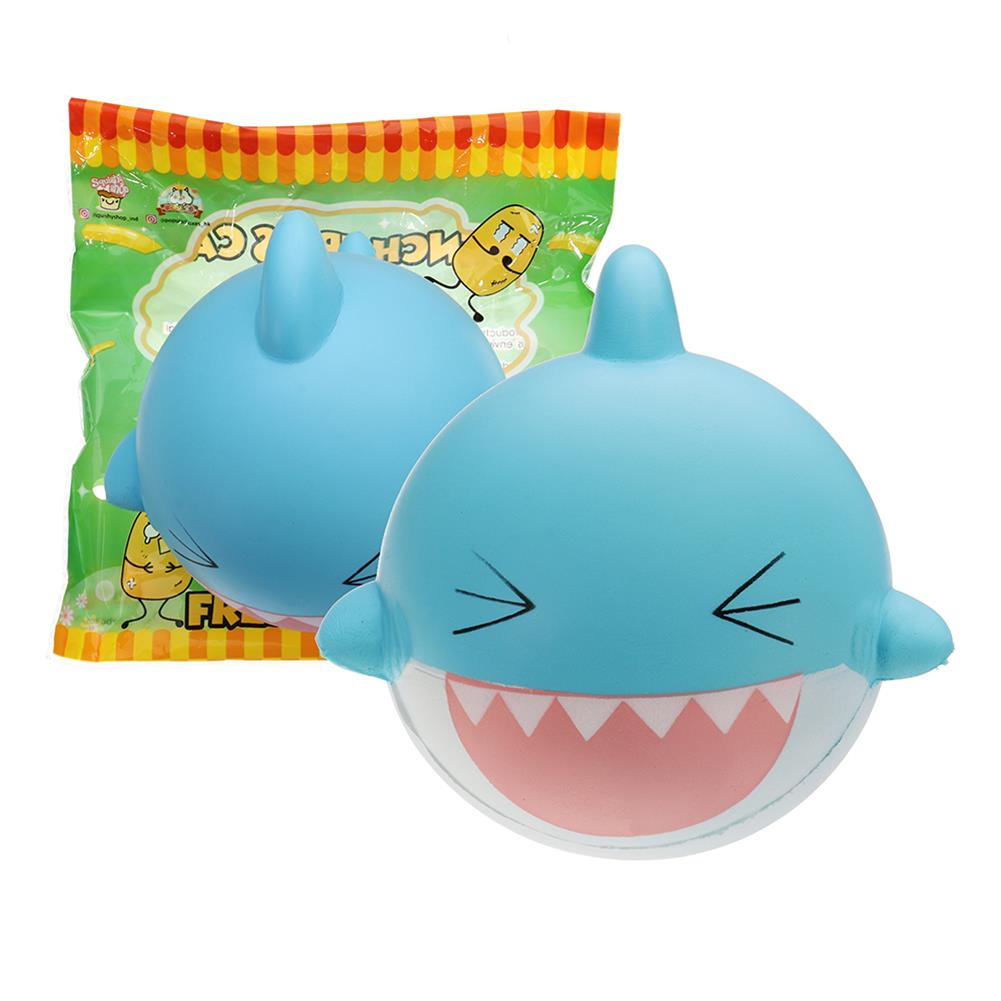 squishy-toys SquishyFun Shark Squishy 15cm Jumbo Licensed Slow Rising Soft with Packaging Collection Gift HOB1337319