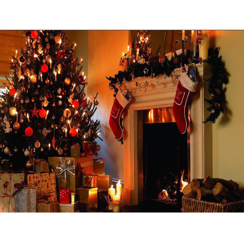 decoration 1.5*2m Fireplace Christmas Photography Background Cloth Backdrops Decoration Toys HOB1338653