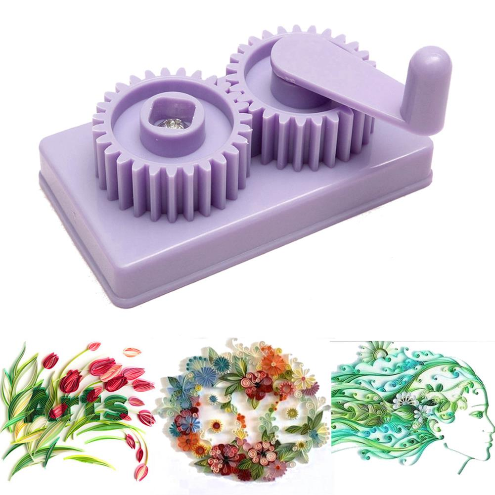 tools-bags-storage Plastic Paper Quilling Crimper Machine Crimping Paper Craft Quilled DIY Art Tool Craft Card Kit HOB1339554