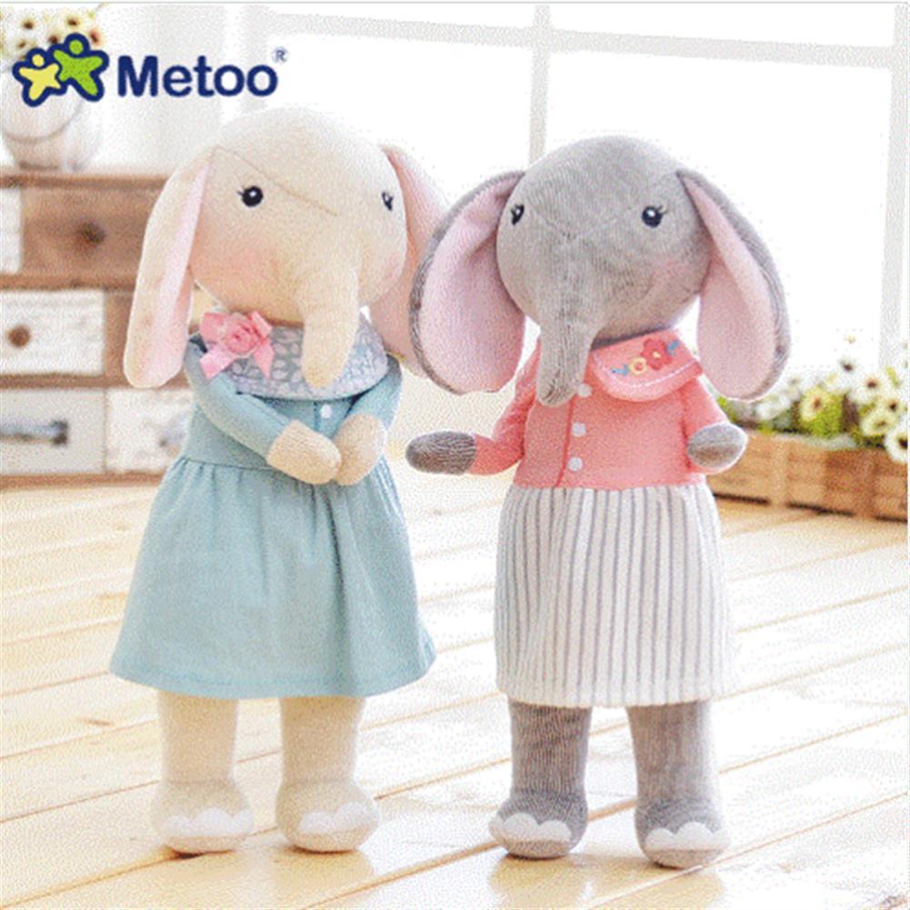 stuffed-plush-toys 12.5 inch Metoo Elephant Doll Plush Sweet Lovely Kawaii Stuffed Baby Toy for Girls Birthday HOB1345307