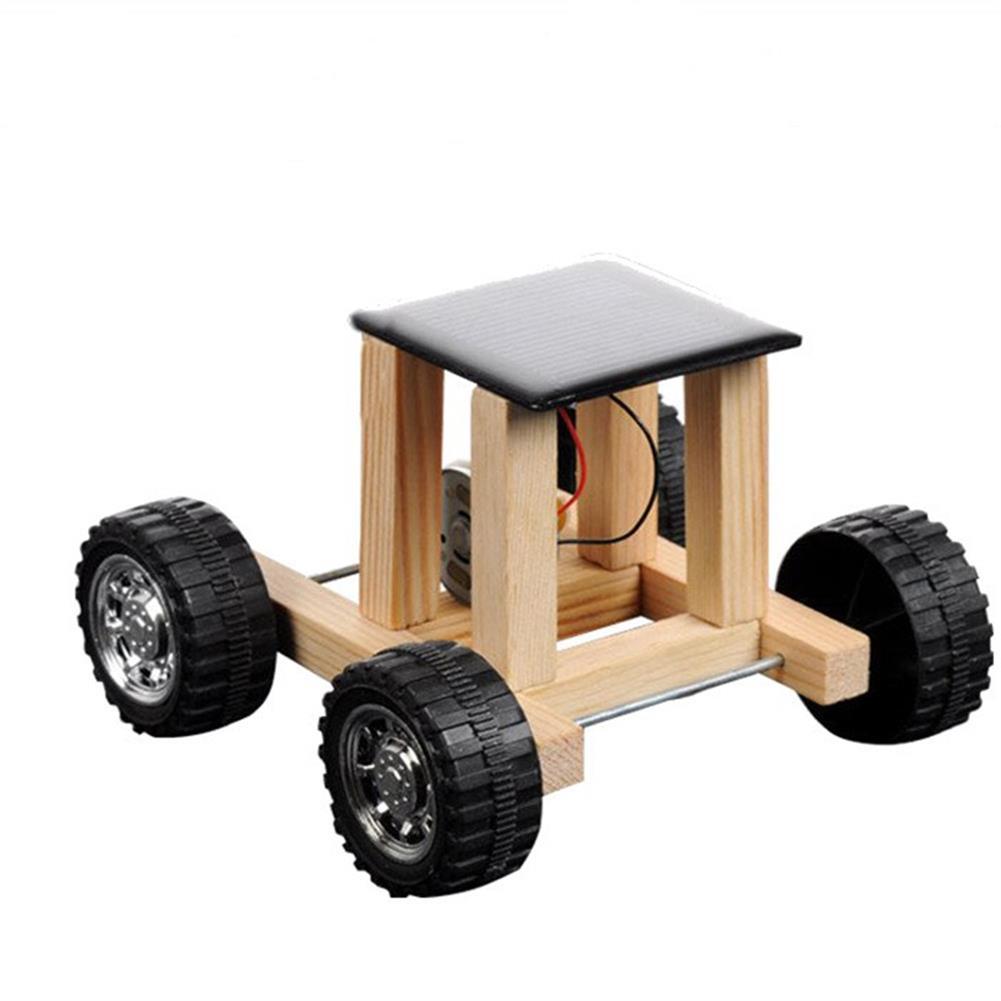 solar-powered-toys Solar Powered Toy Wooden Car Racer Educational Gadget Children Kid's Toys HOB1346167
