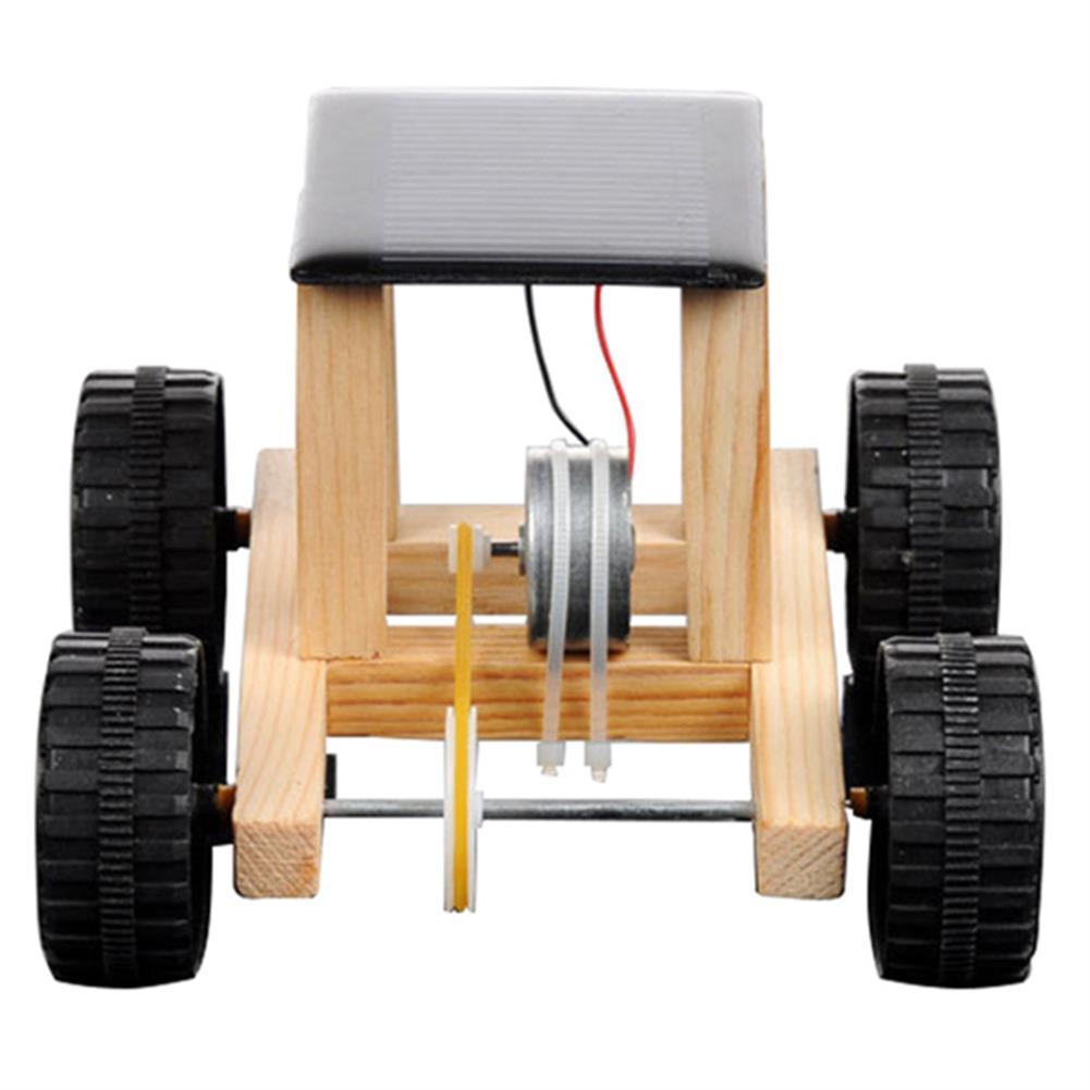 solar-powered-toys Solar Powered Toy Wooden Car Racer Educational Gadget Children Kid's Toys HOB1346167 1