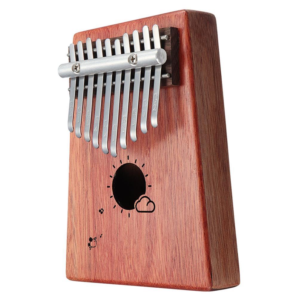 kalimba 10 Keys Kalimba African Solid Mahogany Wood Thumb Piano Finger Percussion for Gifts HOB1347362