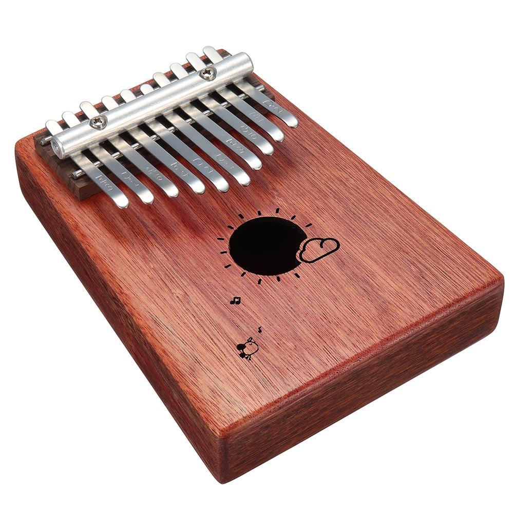 kalimba 10 Keys Kalimba African Solid Mahogany Wood Thumb Piano Finger Percussion for Gifts HOB1347362 1