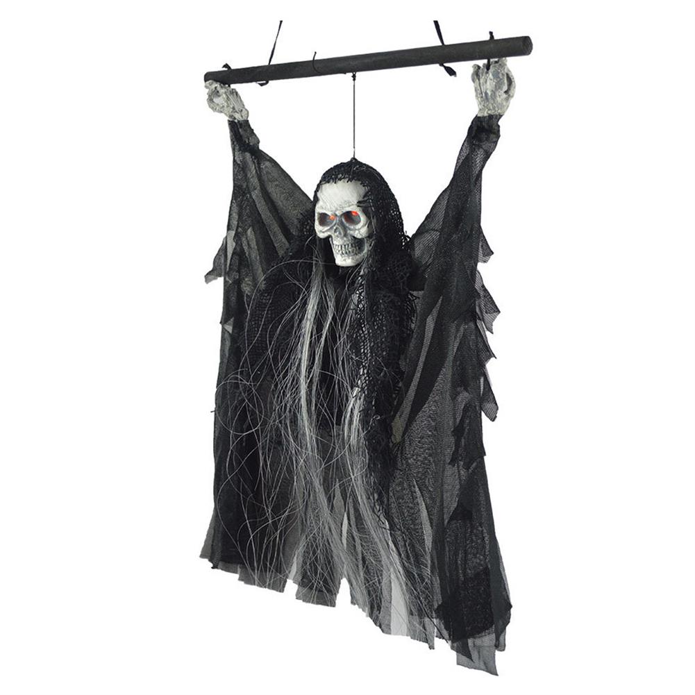 decoration Voice Sensor Halloween Ghost Decoration Toys Horror Sound Skull Hanging Ornaments Party Creepy Props HOB1348345