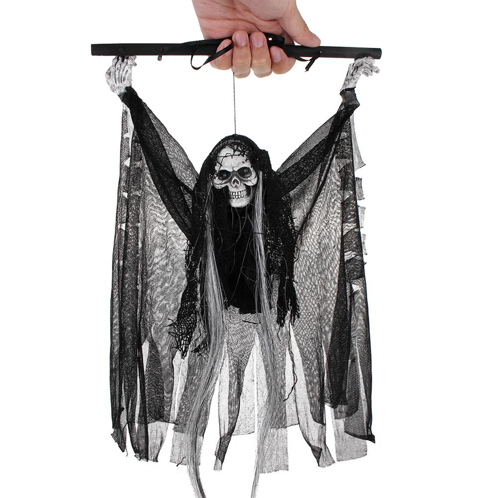 decoration Voice Sensor Halloween Ghost Decoration Toys Horror Sound Skull Hanging Ornaments Party Creepy Props HOB1348345 1