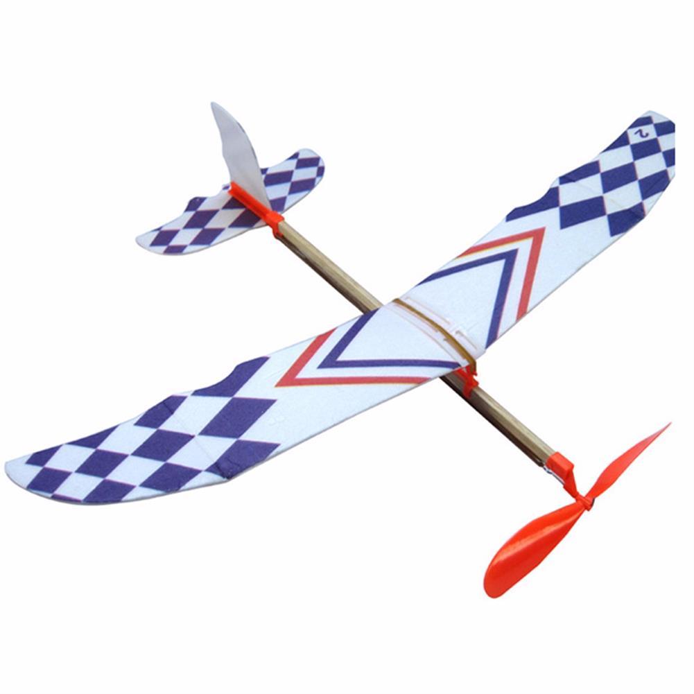 plane-parachute-toys 10 PCS DIY Foam Elastic Powered Glider Plane Toy Thunderbird Flying Model Aircraft Toy HOB1349740
