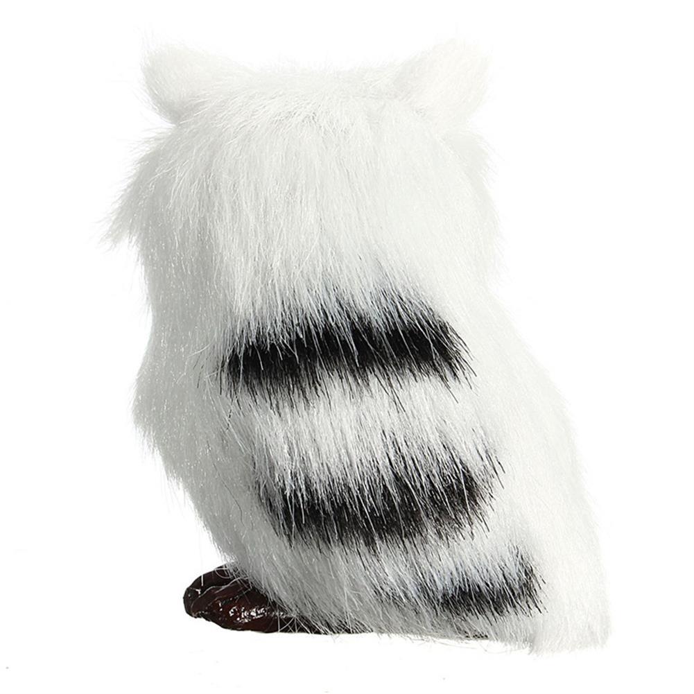 decoration 10 PCS Owl White Black Furry Christmas Ornament Decoration Toys Adornment Simulation HOB1349798 1