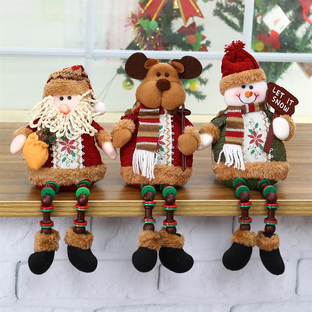 stuffed-plush-toys Santa Snowman Reindeer Doll Christmas Decoration Tree Hanging Ornament Gift HOB1352337