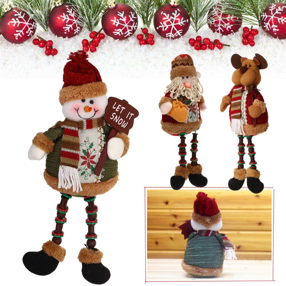 stuffed-plush-toys Santa Snowman Reindeer Doll Christmas Decoration Tree Hanging Ornament Gift HOB1352337 1