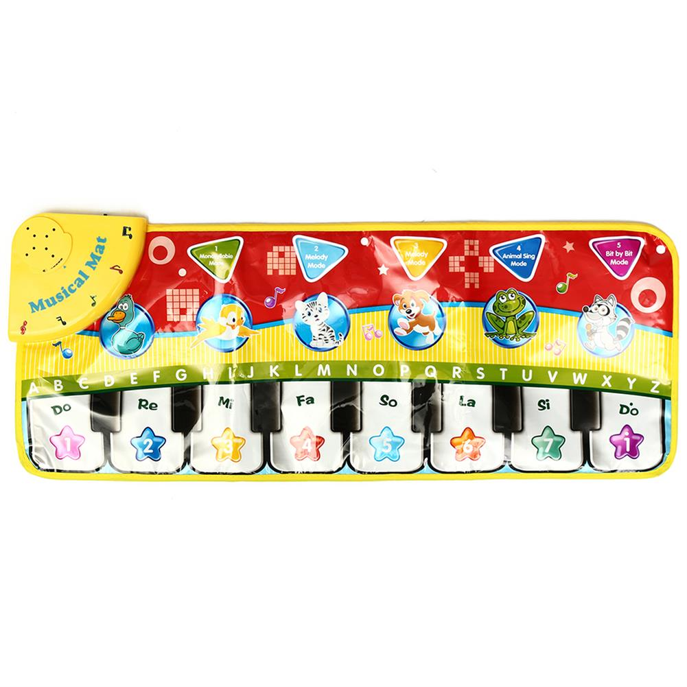 orff-instruments 5 Modes Musical Kid Piano Toddler Play Mat Baby Animal Educational Toys HOB1353213
