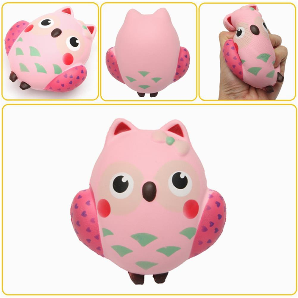squishy-toys 13*12cm Squishy Owl Pink Soft Slow Rising Animal Collection Toy HOB1364482