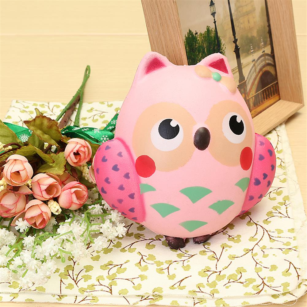 squishy-toys 13*12cm Squishy Owl Pink Soft Slow Rising Animal Collection Toy HOB1364482 1