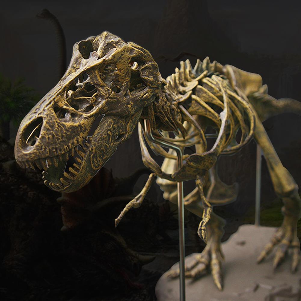 puzzle-game-toys Jurassic Dinosaurs Tyrannosaurus Rex Skeleton Trex Animal Model Kids Toys Gift HOB1367517