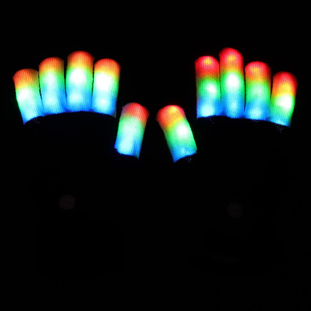 mask-costumes Halloween Colourful Light Glove Dancing Stage LED Palm Light Up Finger Tip Party Supplies HOB1368004 1