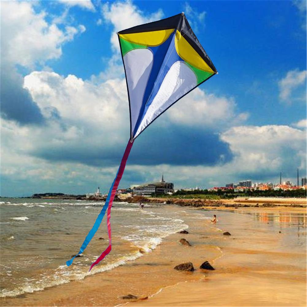 plane-parachute-toys 26''30'' Diamond Delta Kite Outdoor Sports Toys for Kids Single Line Blue Toys HOB1368005