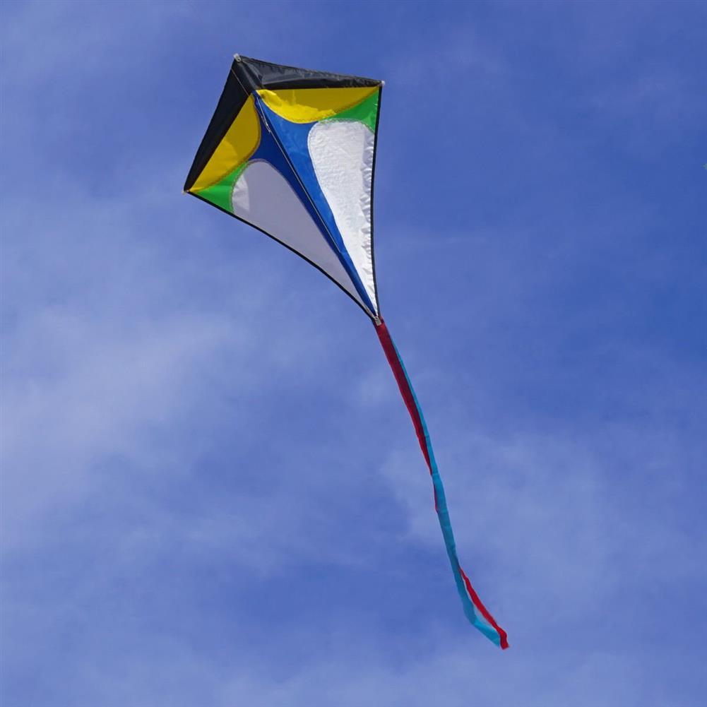 plane-parachute-toys 26''30'' Diamond Delta Kite Outdoor Sports Toys for Kids Single Line Blue Toys HOB1368005 1