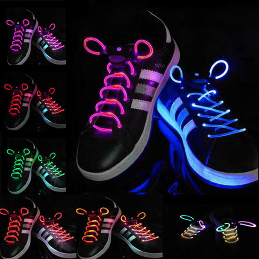 decoration 1 Pair Cool 19 Color for Pick LED Flashlight Up Glow Shoelaces Party Decoration Toys HOB1373545