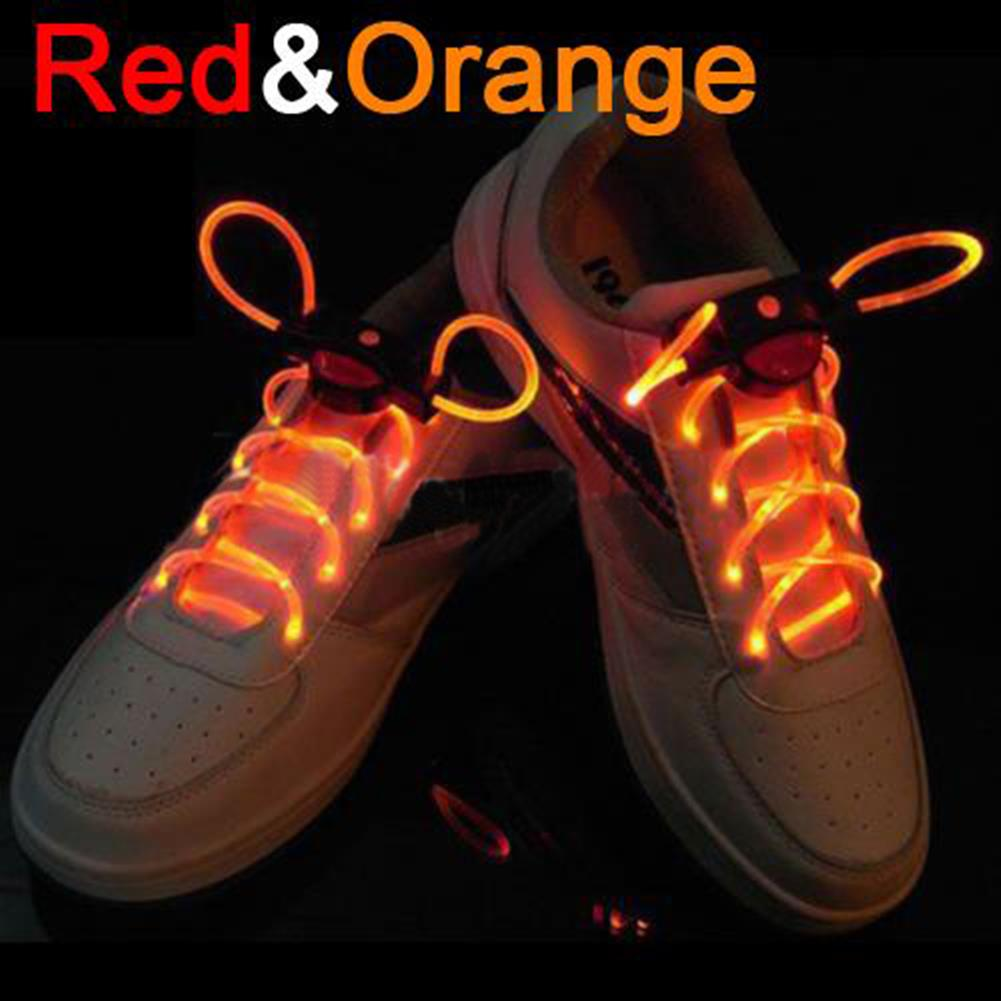 decoration 1 Pair Cool 19 Color for Pick LED Flashlight Up Glow Shoelaces Party Decoration Toys HOB1373545 1