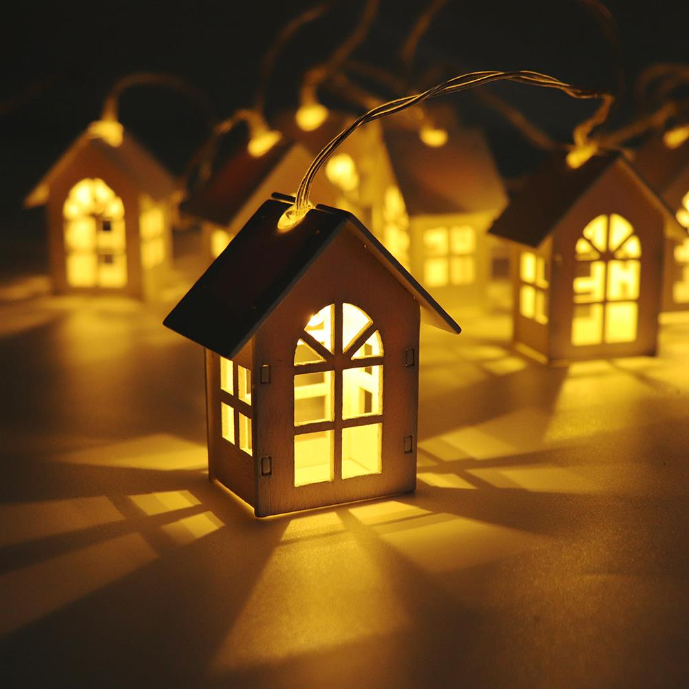 decoration 1Pc Christmas Tree Pendant Led Light Wooden Night Lamps for Christmas Tree Decoration Xmas HOB1374319