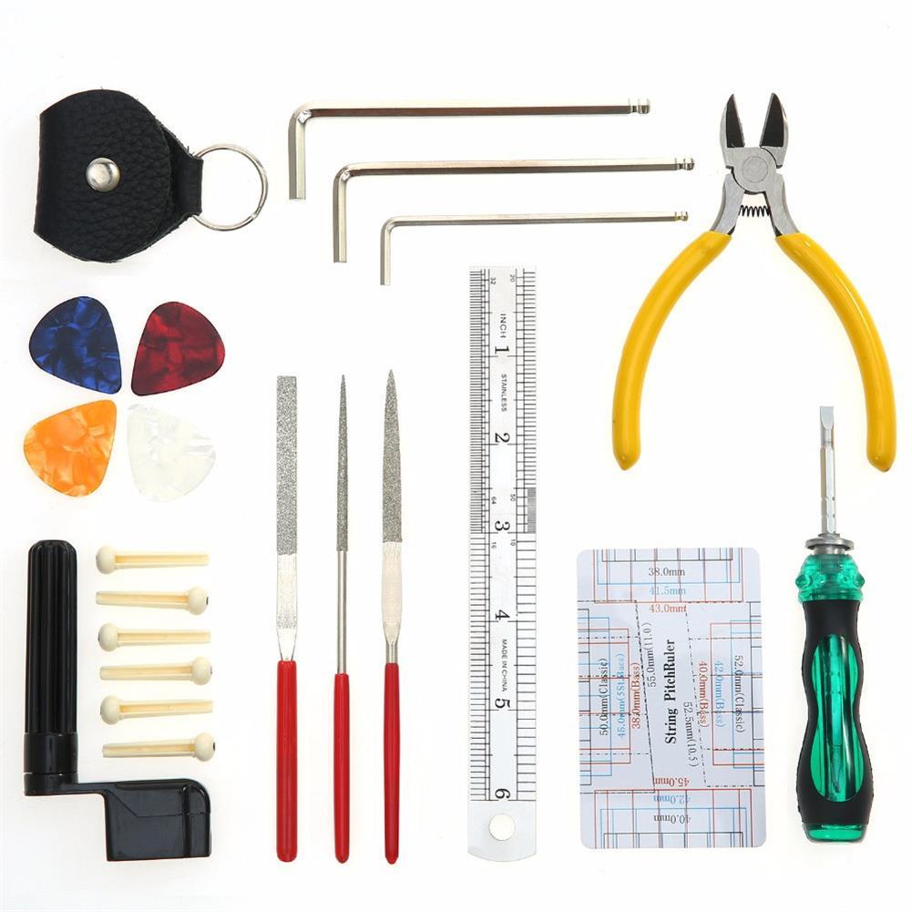 guitar-accessories W003 Professional Guitar Repairing Tool Maintenance Cleaning Tool Kit for Guitar Ukulele HOB1377342