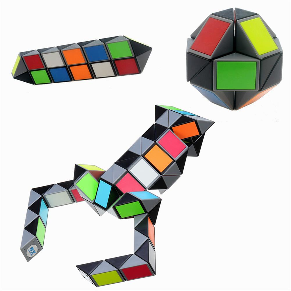 stress-relievers 3D Colorful Magic Cube 72 Segments Speed Twist Snake Magic Cube Puzzle Sticker Educational Toys HOB1377716