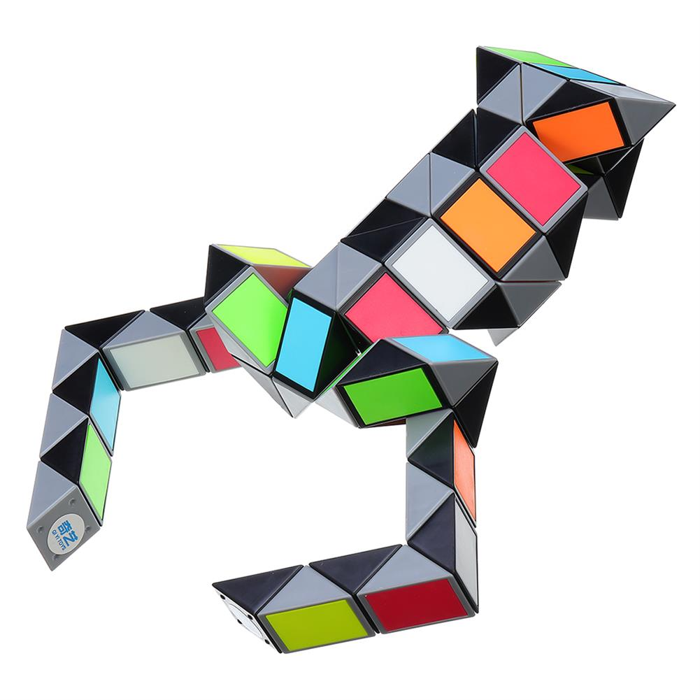 stress-relievers 3D Colorful Magic Cube 72 Segments Speed Twist Snake Magic Cube Puzzle Sticker Educational Toys HOB1377716 1